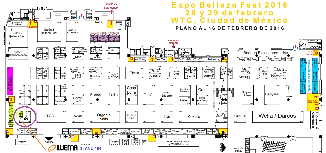 MAPA-BELLEZAFEST-MEXICO-DIWEMA-STAND-104